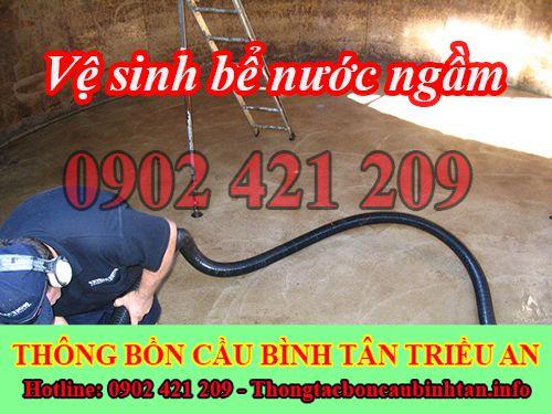 Bảng giá vệ sinh bể nước ngầm Quận Bình Tân 0902421209
