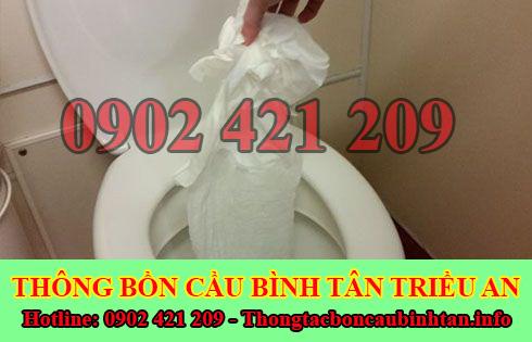 Thông bồn cầu bị nghẹt giấy Quận Bình Tân giá rẻ 0902421209