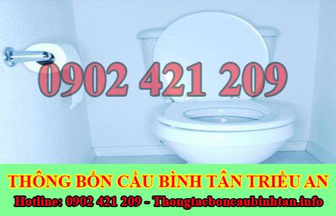 Thông bồn cầu tắc băng vệ sinh Quận Bình Tân 0902421209
