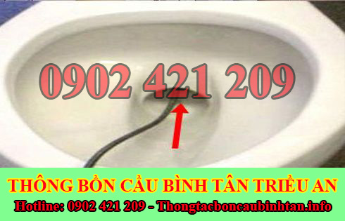 Thông bồn cầu dội nước không xuống Quận Bình Tân 0902421209
