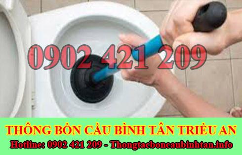 Thông bồn cầu rút thoát nước chậm Quận Bình Tân 0902 421 209