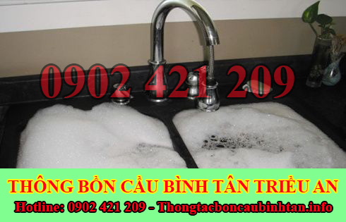 Thông bồn rửa chén bát trào ngược Quận Bình Tân 0902421209