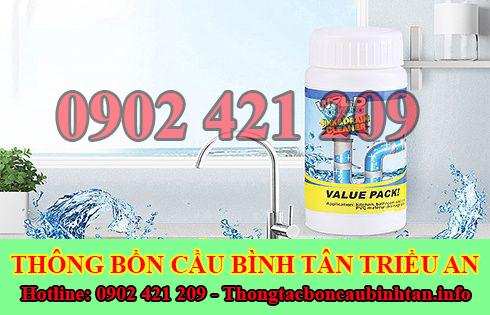 Bán bột thông cống nghẹt Quận Bình Tân giá rẻ 0902421209