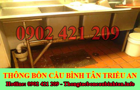 Thông cống bị trào ngược tại Quận Bình Tân giá rẻ 0902421209