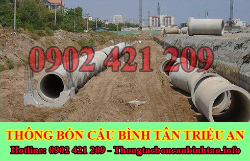 Thi Công Đào Lắp Đặt Đường Cống Thoát Nước Quận Bình Tân Triều An