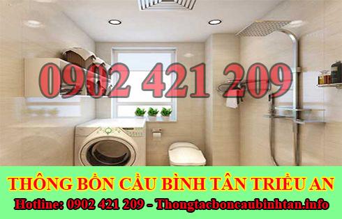 Xử lý mùi hôi bồn cầu toilet nhà vệ sinh Quận Bình Tân Triều An.