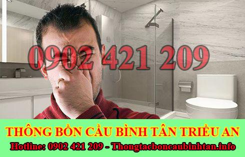 Dịch vụ khử mùi hôi cống mùi hôi toilet nhà vệ sinh Quận Bình Tân Triều An.