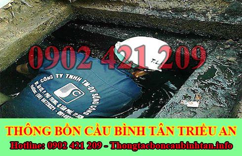 Đơn vị nạo vét hố ga giá rẻ Quận Bình Tân Triều An.