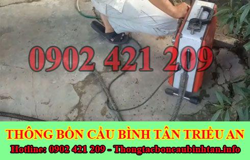 Thông đường ống nước bị tắc nghẹt Quận Bình Tân 0902421209