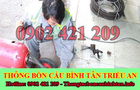 Sửa cống nghẹt Quận Bình Tân giá rẻ 0902421209 BH 5năm