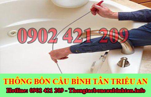 Thợ thông tắc bồn rửa mặt lavabo Quận Bình Tân 0902 421 209