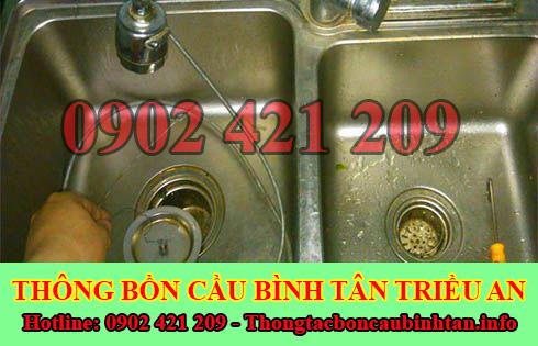 Một số cách xử lý thông tắc nghẹt bồn rửa chén bát bồn rửa mặt lavabo Quận Bình Tân.