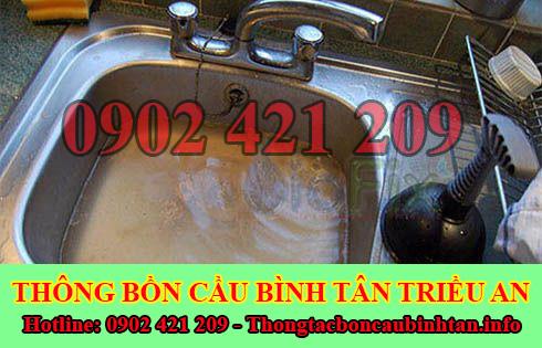 Thông Tắc Nghẹt Bồn Rửa Chén Bát Bồn Rửa Mặt Lavabo Quận Bình Tân.