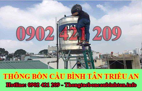 Bảng giá vệ sinh bồn nước tại Quận Bình Tân giá rẻ 0902421209